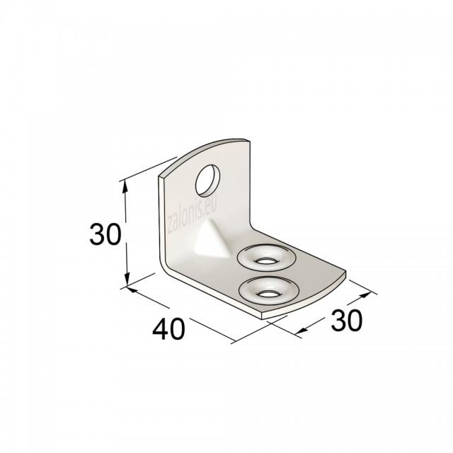 METAL CORNER 40x30x30 WHITE